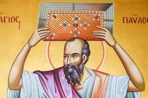 painting-saint-paul-holding-scriptures-above-head