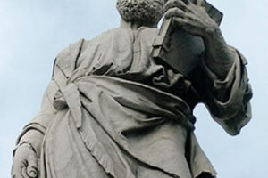 statue-of-saint-holding-bible