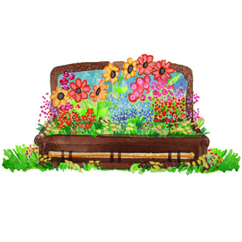 coffin w flowers