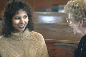 women in church seats