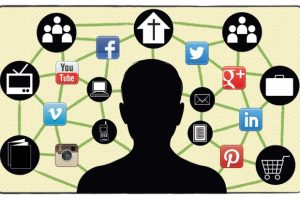 person-with-social-media-icons-around-them