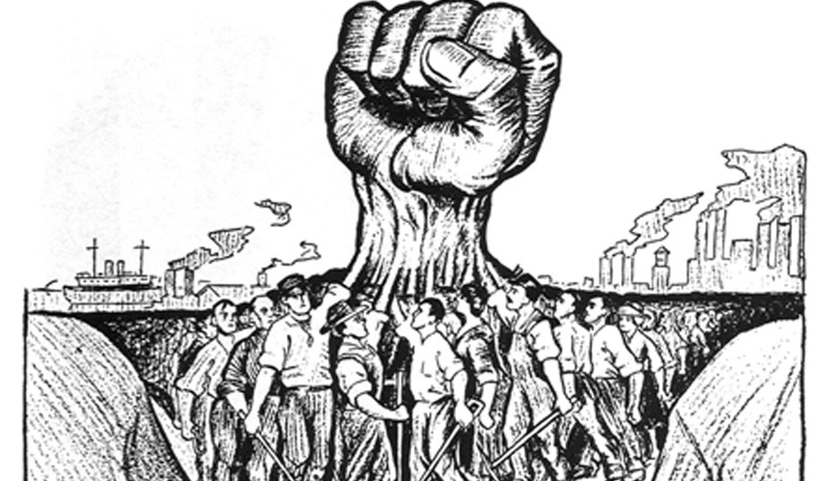 illustration-workers-holding-up-giant-fist