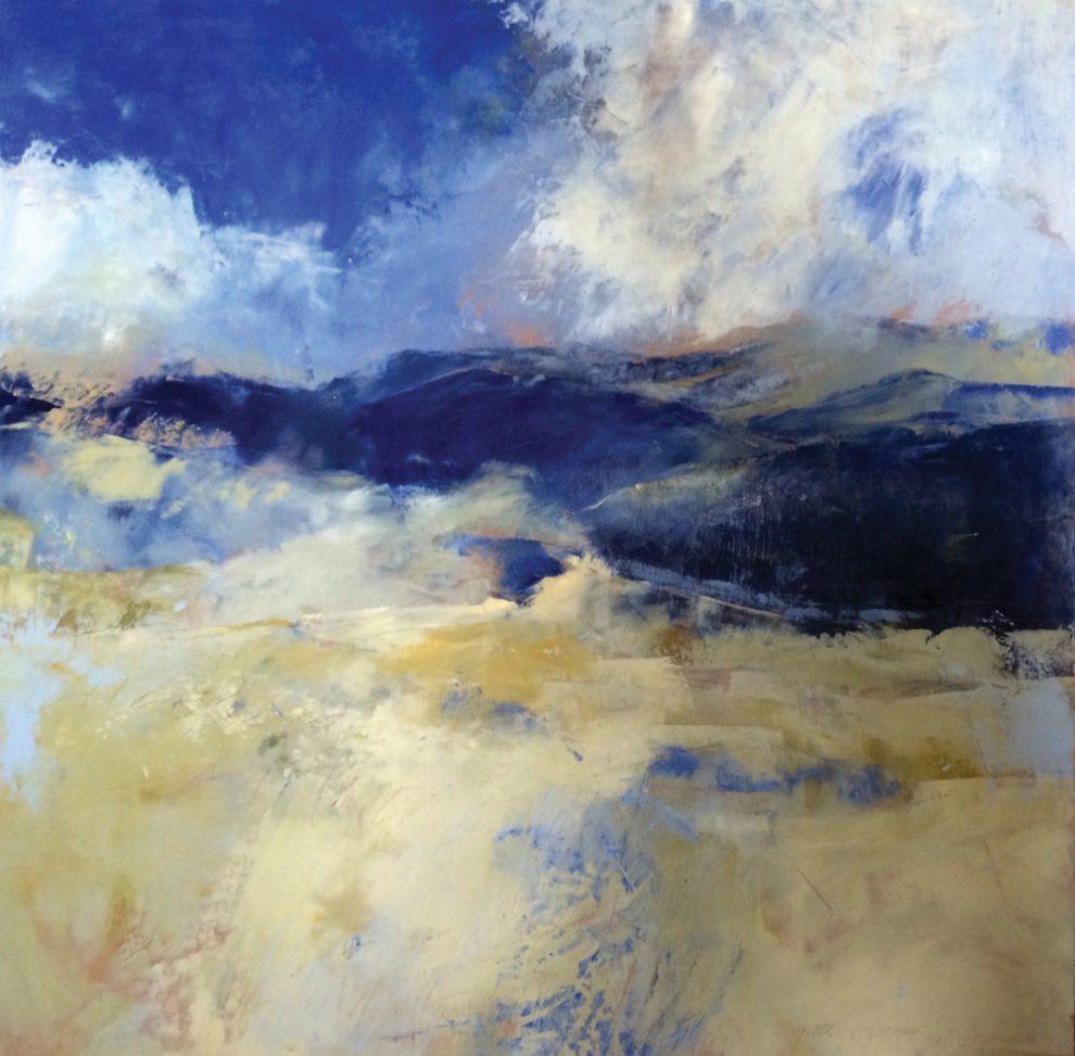 GraceCarolBomer_Appalachian Rhapsody in Blue 48 x 48 oil and wax on panel