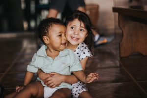two-children-hugging