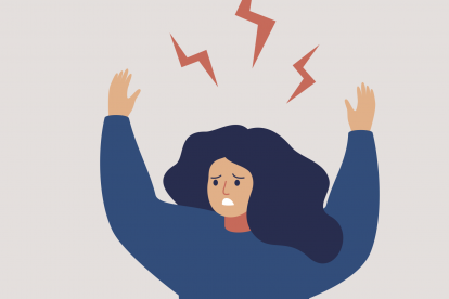 illustration-of-a-woman-raising-hands-over-head