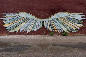 painting-of-wings-on-wall