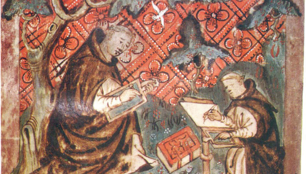painting-of-monks-writing