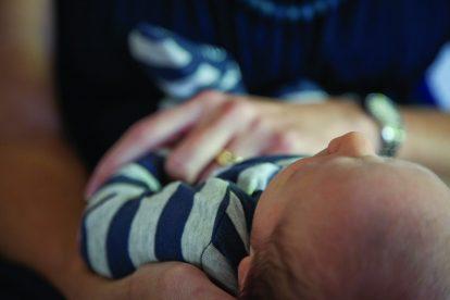 baby-wearing-striped-pajamas