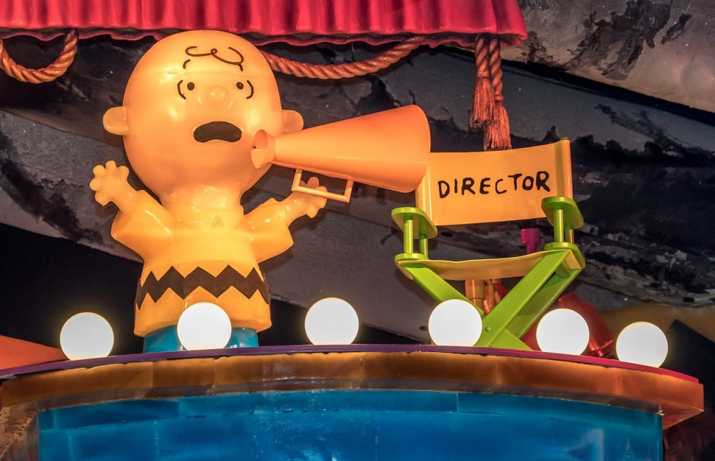 Charlie Brown Directing the Play