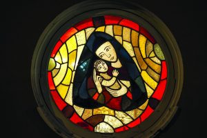 Stained-glass-of-Mary-and-Jesus