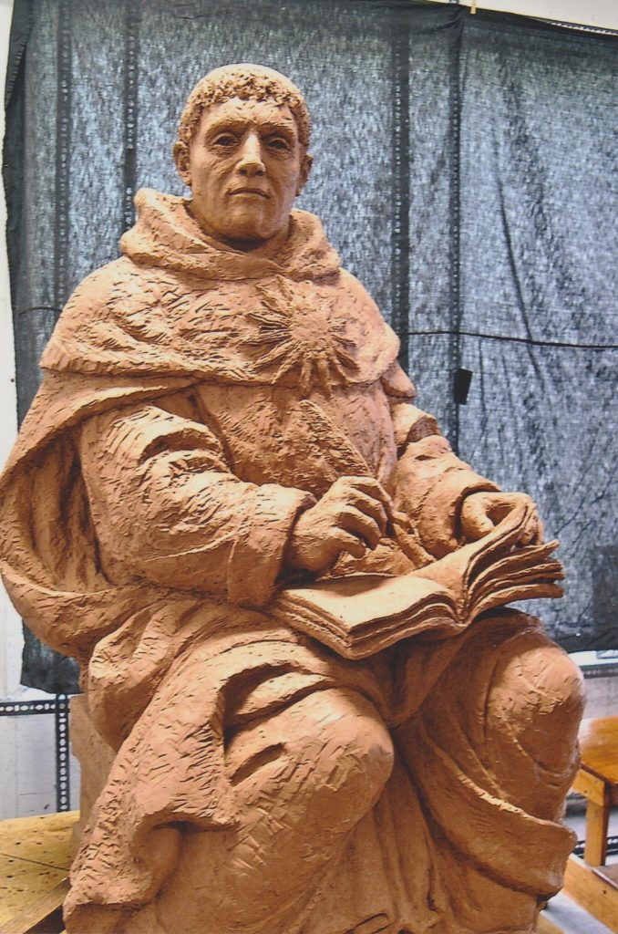 clay-mold-for-bronze-statue-of-saint-thomas-aquinas