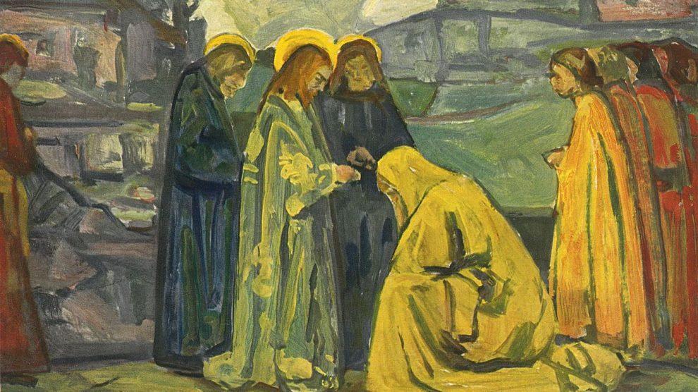 Jesus and the bleeding woman
