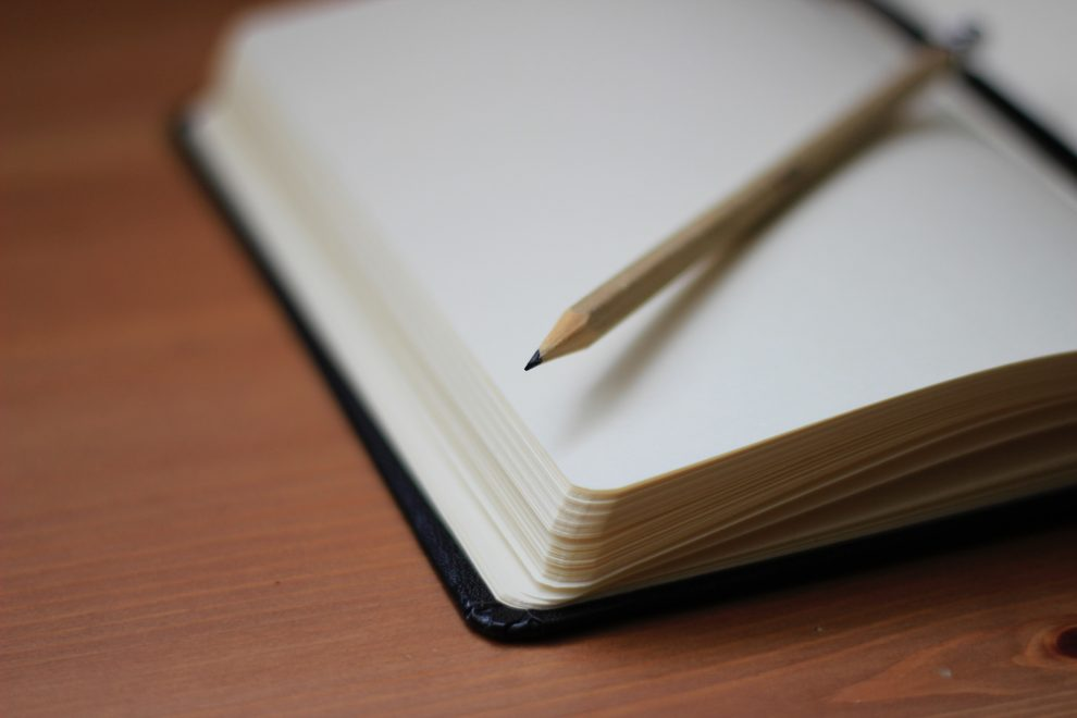 notebook-corner-sharpened-pencil