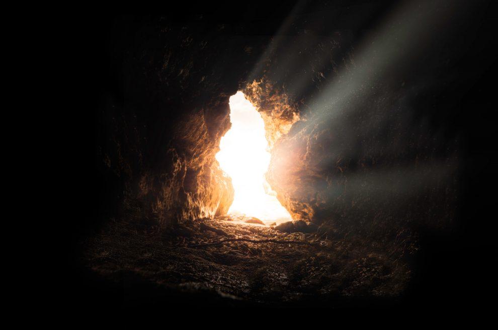 light-through-cave-door