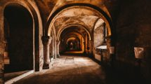 stone-hallway-in-a-monastery