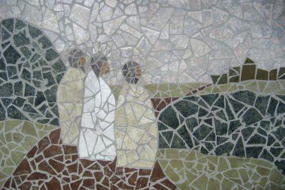mosaic-of-jesus-meeting-disciples-at-emmaus