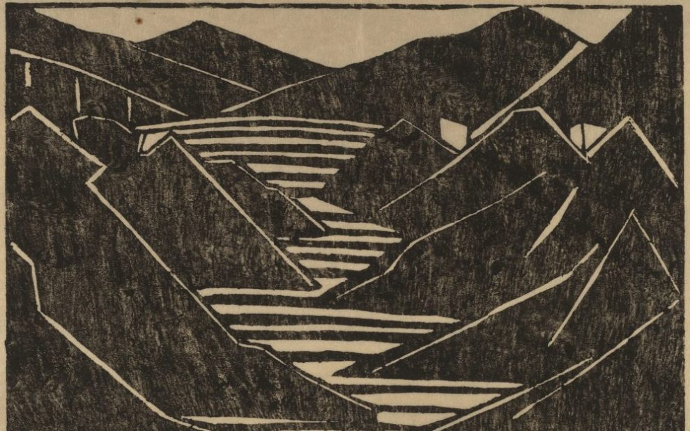 black-and-white-painting-of-mountains