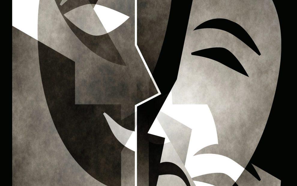 art-of-drama-masks-smiling-and-frowning